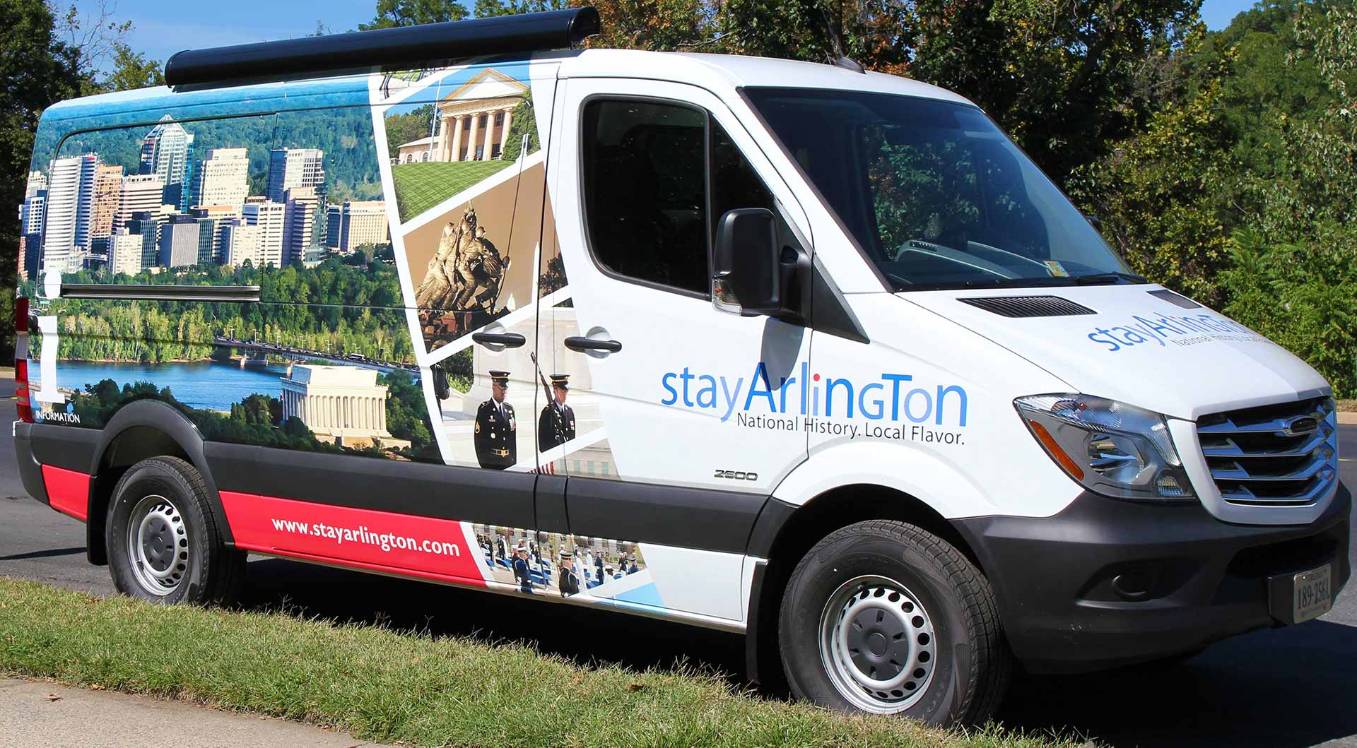StayArlington Van Wrap