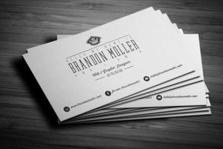 50  Epic PSD Business Card Template Files Divide Minimalistic Business Card FREE PSD Template