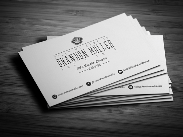 Free And Premium Vintage And Modern Business Card Templates - Photoshop business card template
