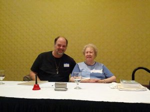Andy Sway with Hypnosis Mentor, Dolores Cannon
