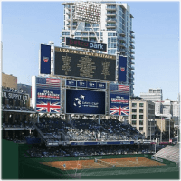 Check out the court placement in Petco Park for Davis Cup weekend