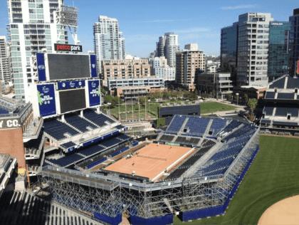 Left Field Tennis - Petco Park, San Diego - Photo: @USTA_TimCurry