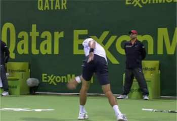 Novak loses his cool...