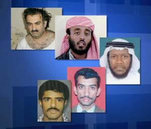 The five alleged co-conspirators in the 9-11 attacks
