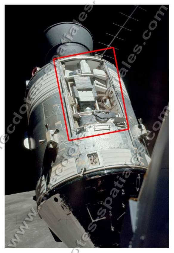 La SIM bay DU SM d'Apollo 17