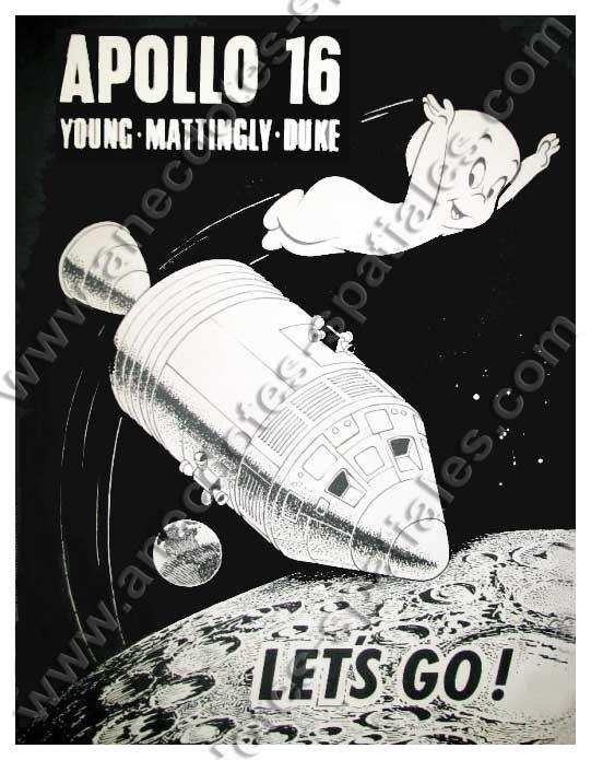 Un poster de 1971 avec Casper le gentil fantôme. On aperçoit la constellation d'Orion.4orion et Orion