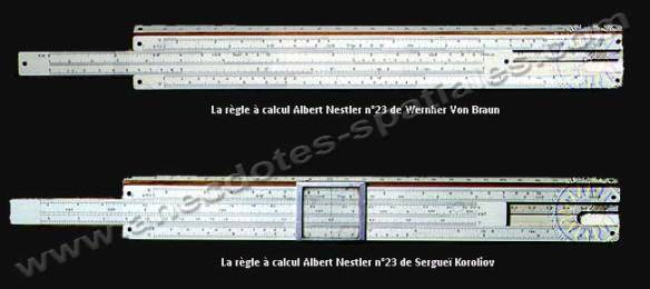 Regle a calcul - Von Braun Koroliov