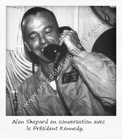 Shepard en conversation avec JFK