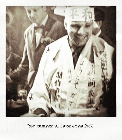 Youri Gagarine au Japon 1962
