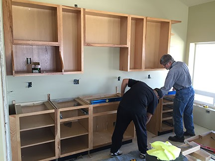 Construction Cabinet Installation An Eclectic Mind