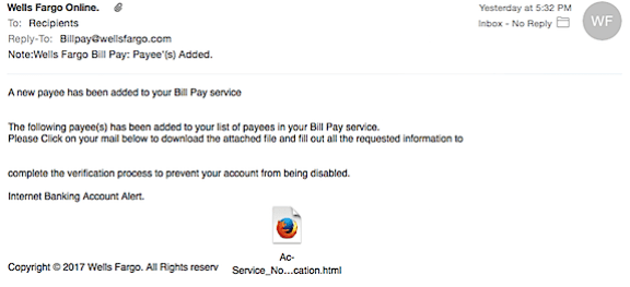 Wells Fargo Phishing