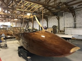 1914 Curtiss Flying Boat Under Reconstruction