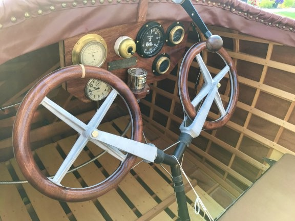Cockpit of 1914 Curtiss Flying Boat
