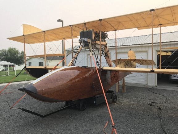 Curtiss Flying Boat in the Driveway