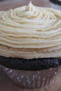 Chocolate Hazelnut Truffle Cupcakes with Hazelnut Buttercream, A Sweet Award, & An Announcement
