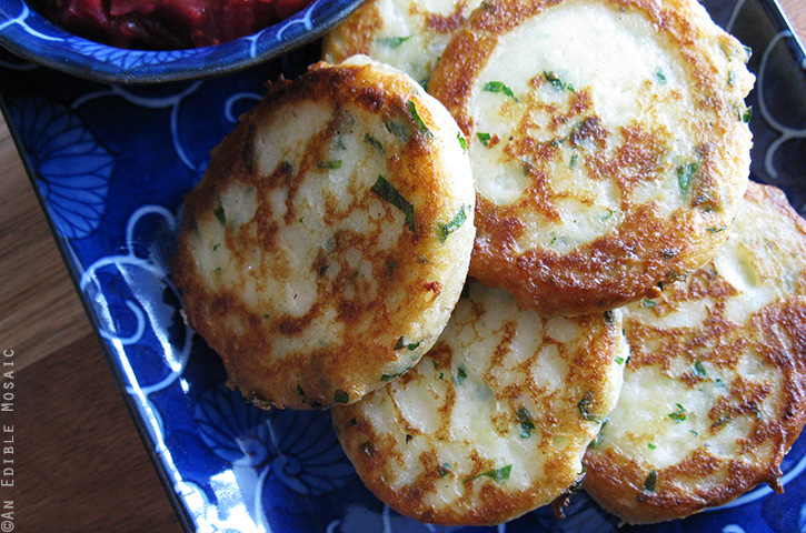 Garlicky Mashed Potato Cakes 3