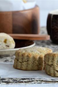 Olive Oil Scones with Cinnamon Figgie Butter