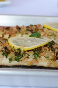 Baked Fish with Crumb Topping