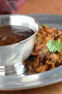 Onion Bhajis & Tamarind Chutney
