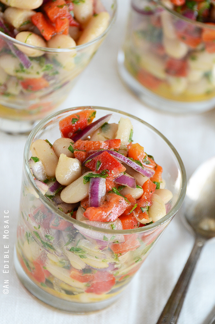 White Bean-Roasted Red Pepper Salad 2