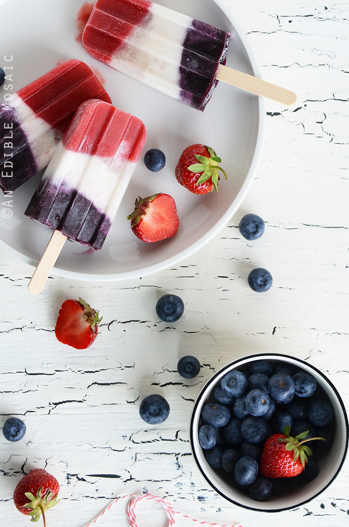 Red, White, and Blue Double Berry Coconut Pops 2