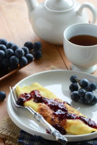 Cheese Crepe for One {Grain-Free}