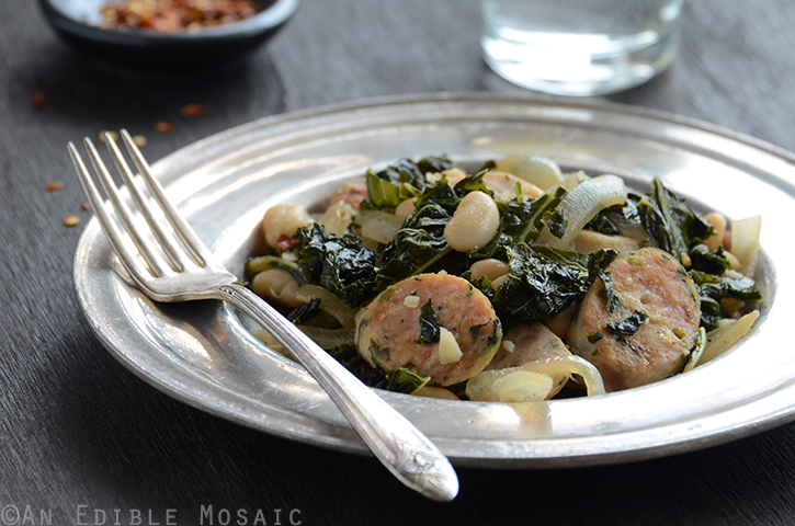 Sautéed Kale with Sausage and White Beans 3