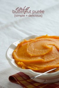 How to Make Butternut Squash Purée