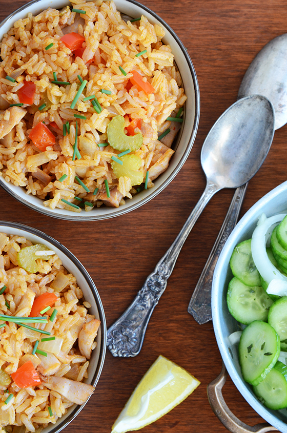 Thai Inspired Fried Rice With Chicken An Edible Mosaic
