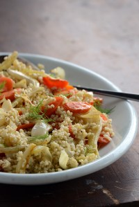 Millet Pilaf with Roasted Carrot + Fennel