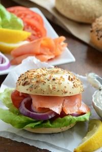 BLT {Butter Lettuce, Lox + Tarragon Schmear Bagel Sandwiches} & An Announcement