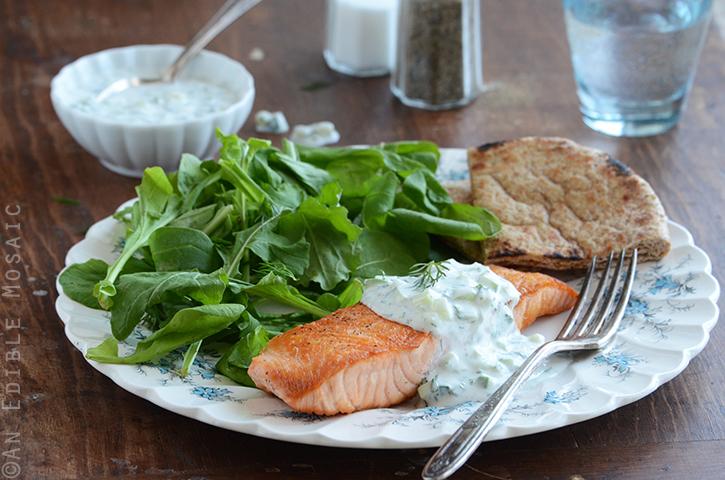 Seared Salmon with Tzatziki Sauce 4