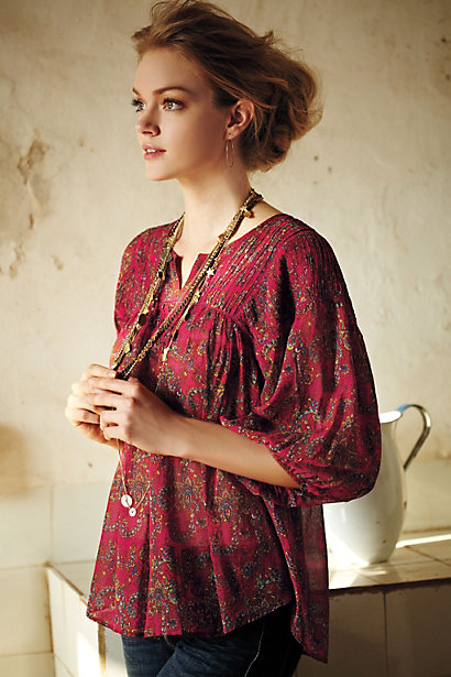 Clara Peasant Blouse From Anthropologie