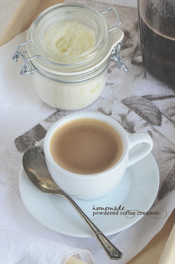 Homemade Powdered Coffee Creamer