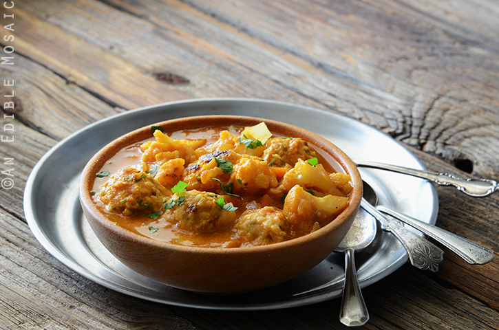 Smoky Roasted Cauliflower Soup with Herbed Chickpea Dumplings 3