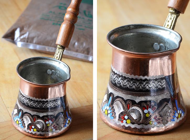 Turkish Coffee and Coffee Pot