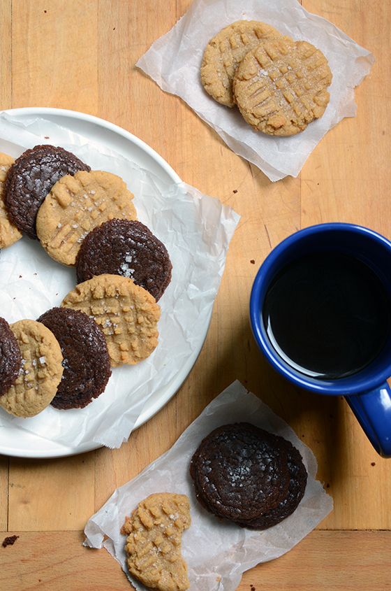 Gluten-Free Peanut Butter Cookies and Easy Nutella Cookies with Sea Salt