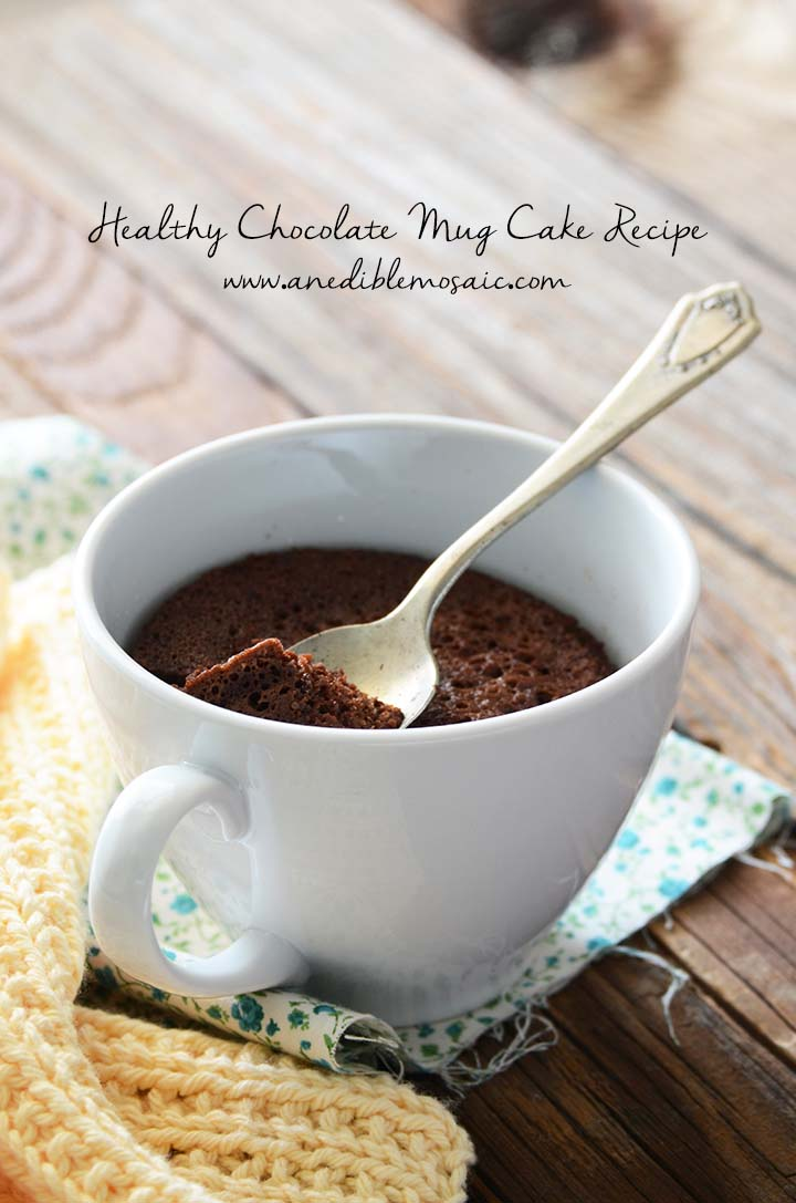 Healthy Chocolate Mug Cake Recipe Pin