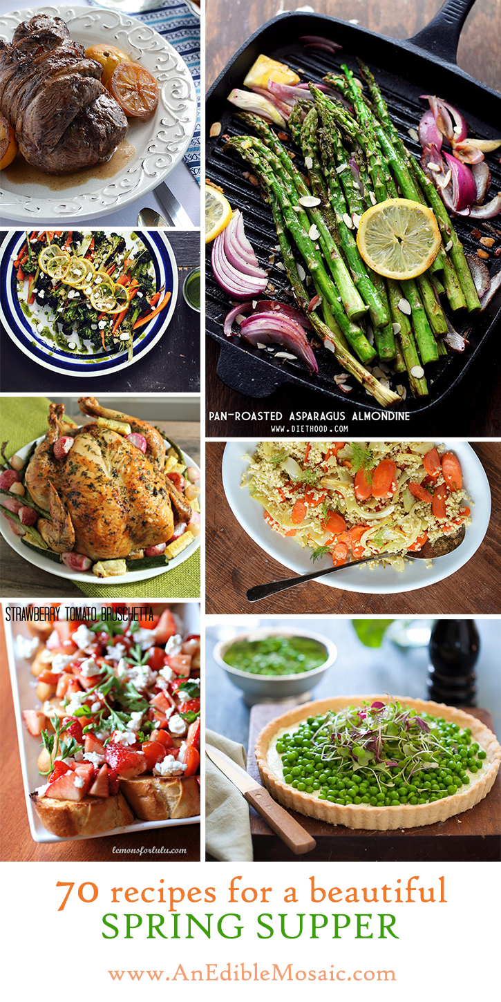 70 Recipes for a Beautiful Spring Supper