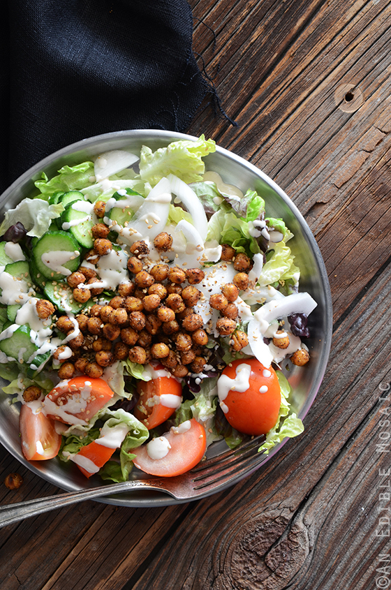 Falafel-Spiced Roasted Chickpea Salad with Tahini Dressing 2