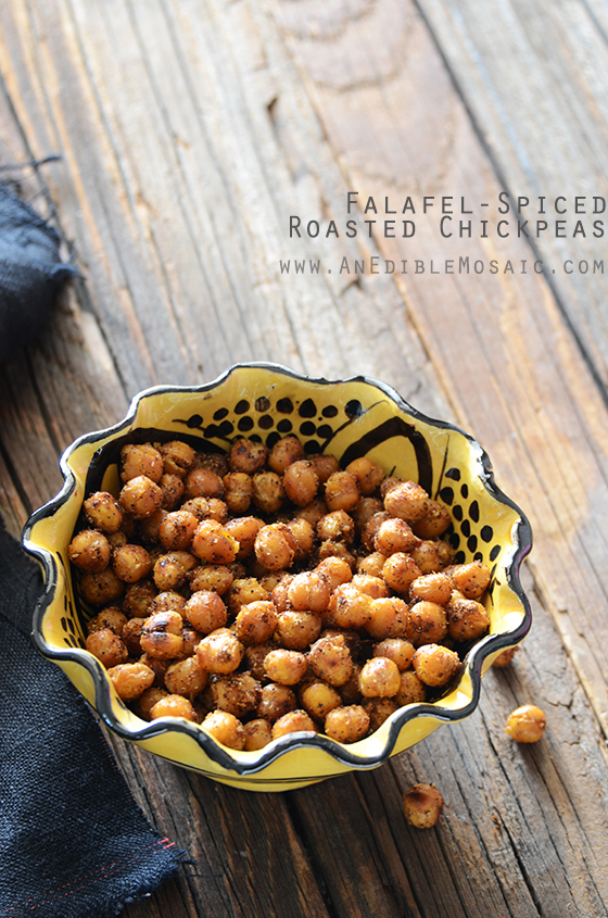 Falafel-Spiced Roasted Chickpeas