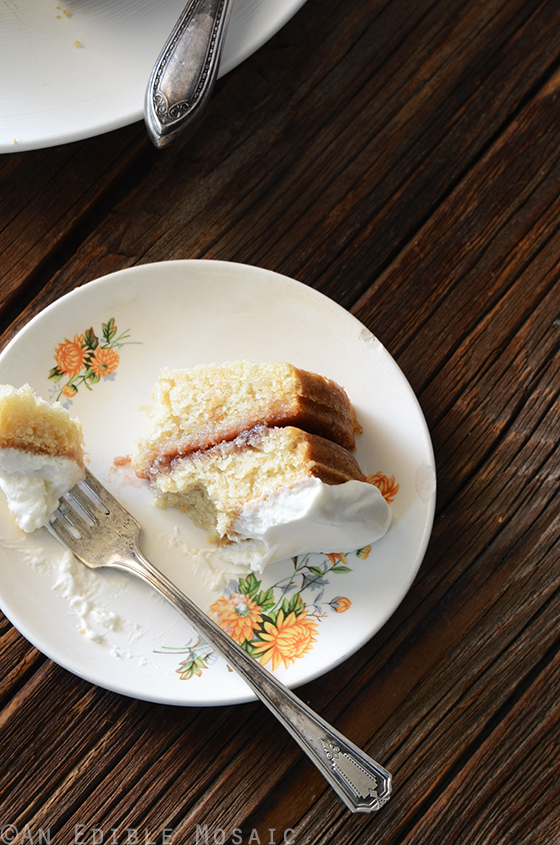 Strawberry-Filled Vanilla Cake with {Stabilized} Whipped Cream Frosting 2