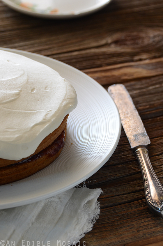 Strawberry-Filled Vanilla Cake with {Stabilized} Whipped Cream Frosting 3