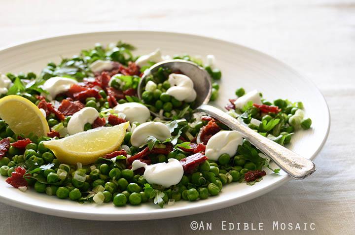 Sweet Pea Salad with Scallion, Bacon, and Lemon Cream Dressing Recipe 4