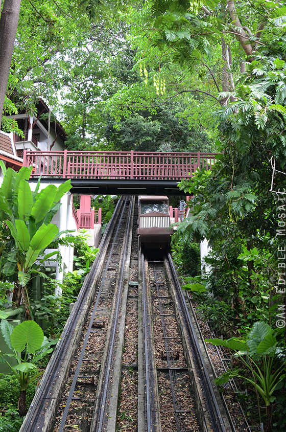 Cable Car Leading up to Hill Side Villas