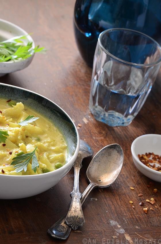 Green Pea, Baby Potato, and Cauliflower Curry 2