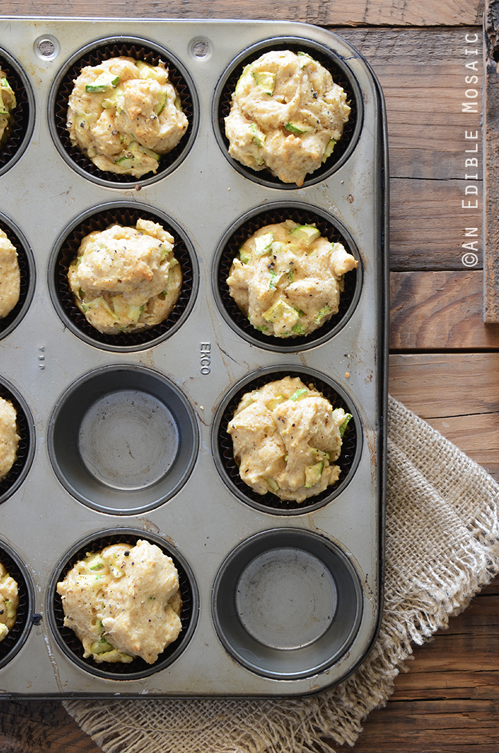 Savory Spiced Sour Cream Zucchini Muffins Recipe 2