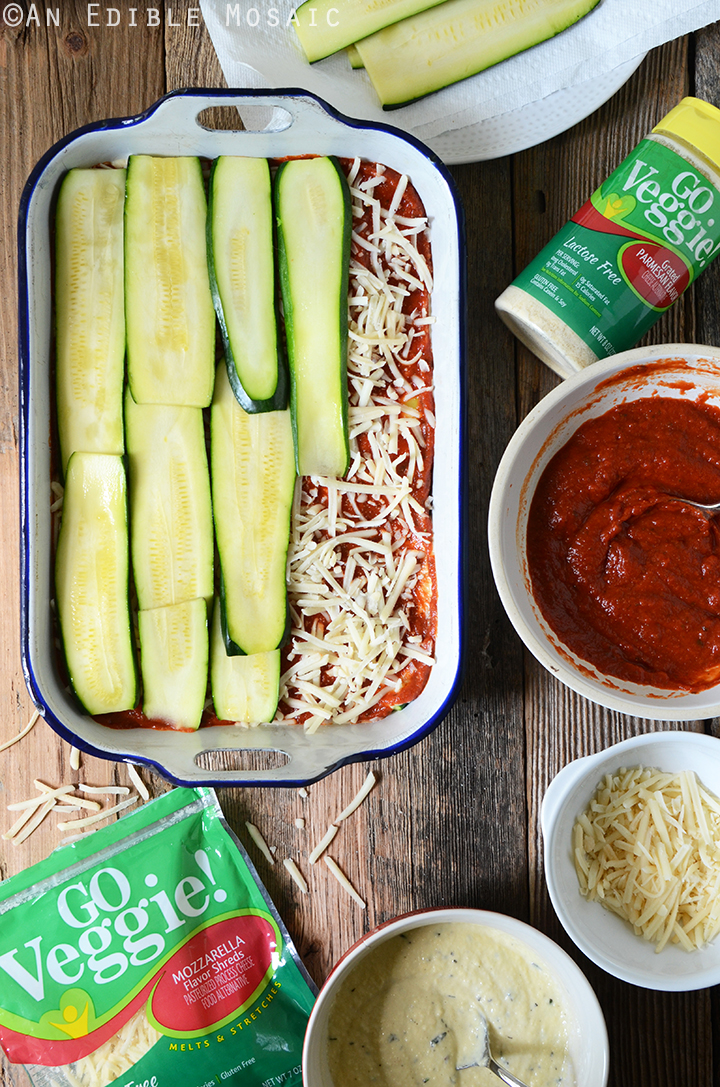 No-Noodle Zucchini Lasagna Ingredients