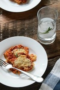 No-Noodle Zucchini Lasagna {Vegetarian; Lactose-Free}