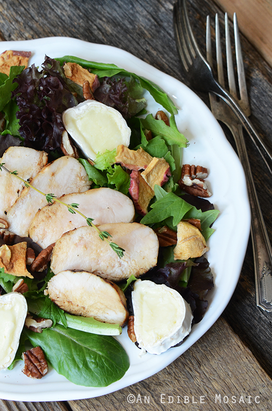Apple, Onion, and Thyme Marinated Chicken Salad with Toasted Pecans 2